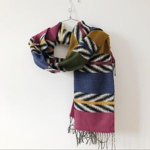 3/20$ Pink blue green and yellow scarf